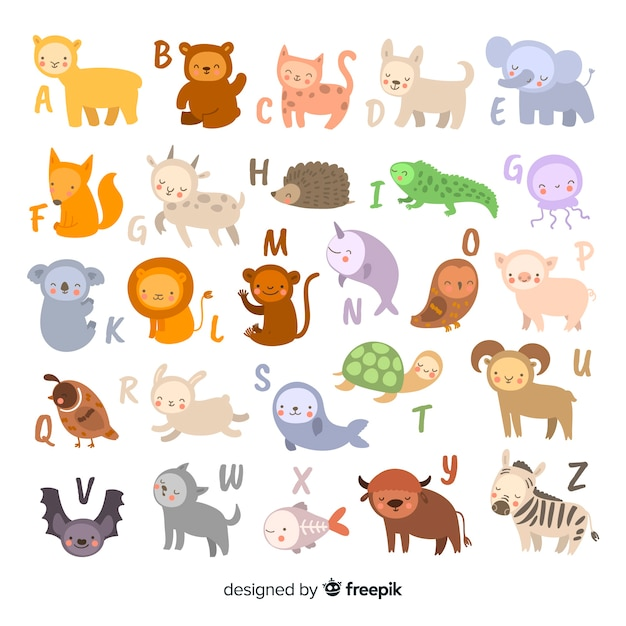 vector alphabet alphabet made out letters and animals vector free download 893