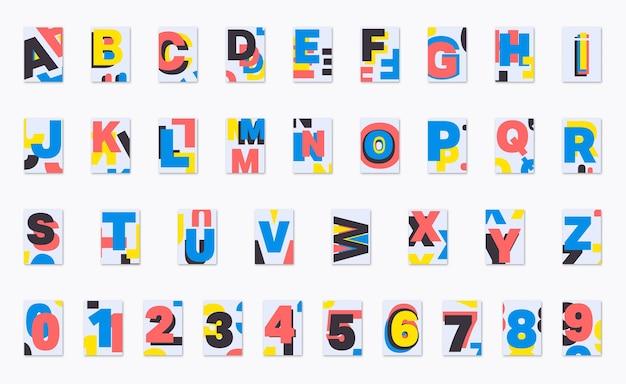 Alphabet Poster Font Design Premium Vector