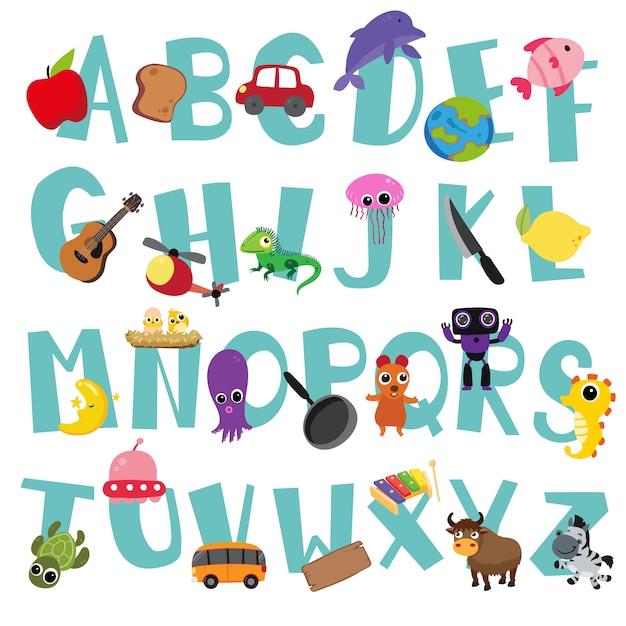 Alphabet vector design for kid Premium Vector