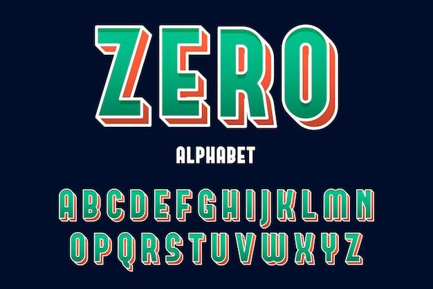 3d 만화 스타일에서 a부터 z까지 알파벳 문구 무료 벡터