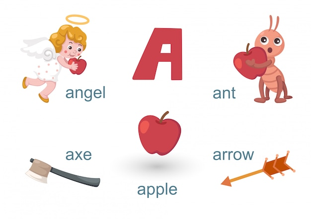 Alphabet a Premium Vector