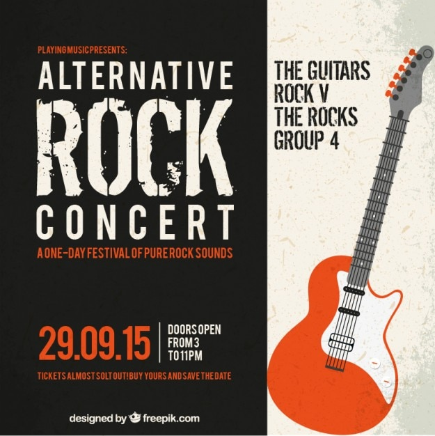 Alternative Rock Concert Poster Free Vector