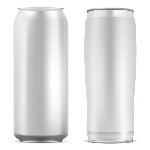 Aluminum can blank. Premium Vector