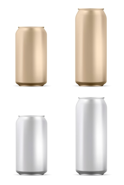 Aluminum can Premium Vector