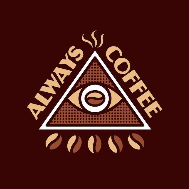 常にコーヒーのロゴデザイン Premiumベクター