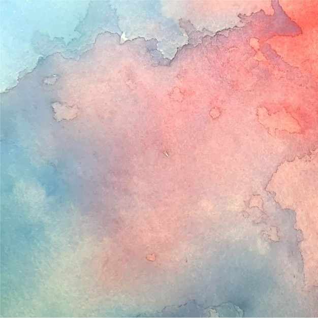 Amazing blue and red watercolor texture
