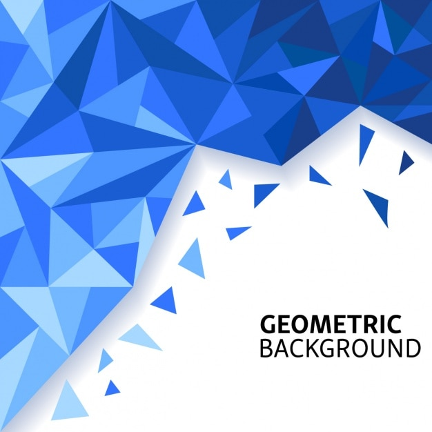 Amazing blue background with polygonal shapes Vector ... - photo#30