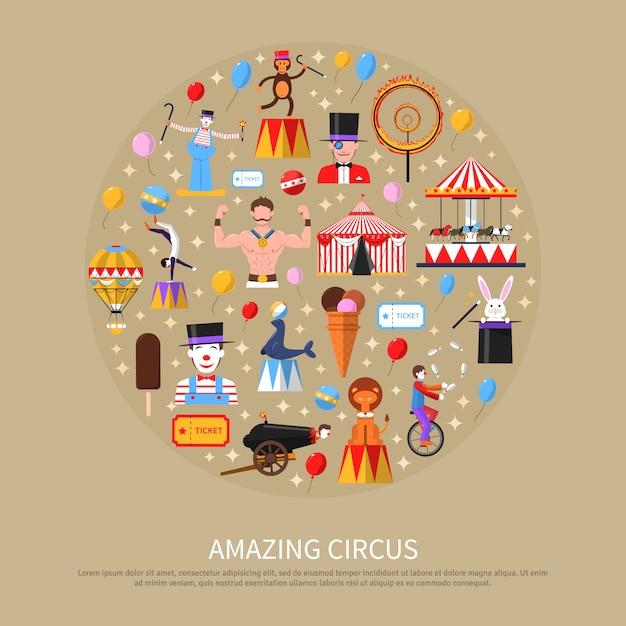 Amazing circus concept Free Vector