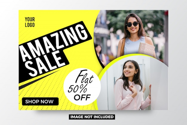 Amazing sale abstract banner template Premium Vector