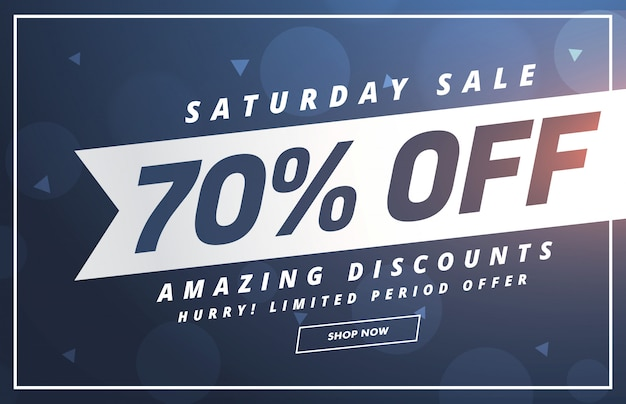 Amazing saturday discount and offer template design Free Vector