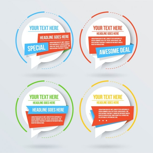 amazing templates for text vector free download