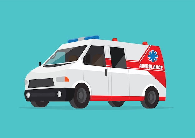 Ambulance car. Premium Vector