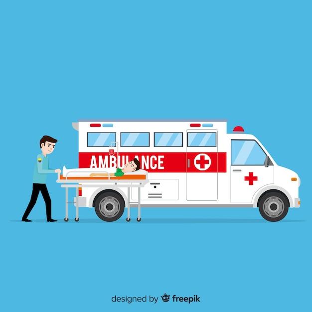 Ambulance concept Free Vector