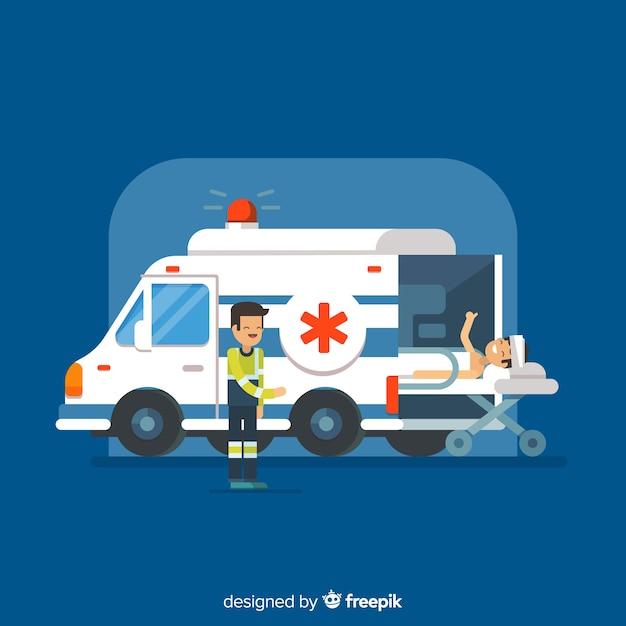 Ambulance concept Free Vector