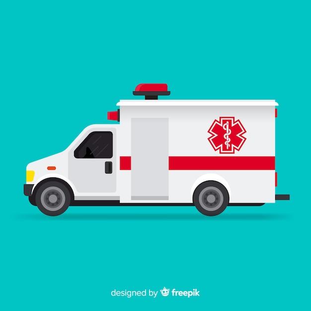 Ambulance vector Free Vector