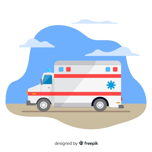 Ambulance vector Free Vector