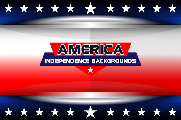 America background for independence day Premium Vector