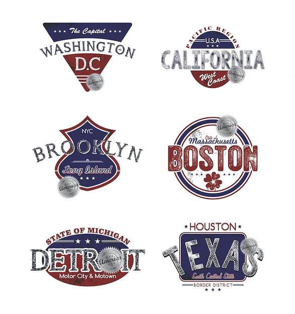 America emblem Premium Vector