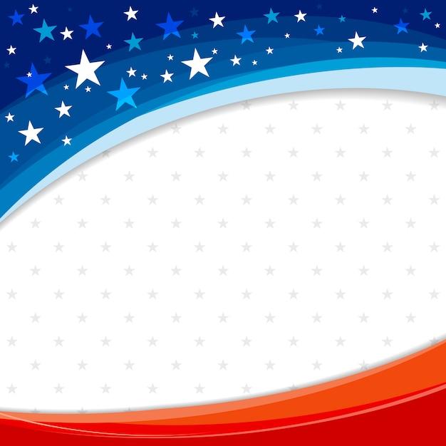 America or usa banner background design of american flag Premium Vector