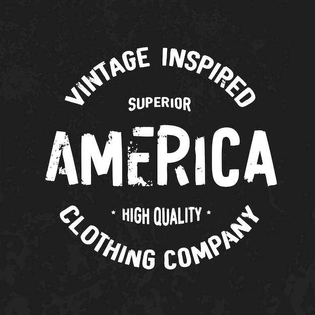 America Premium Vector