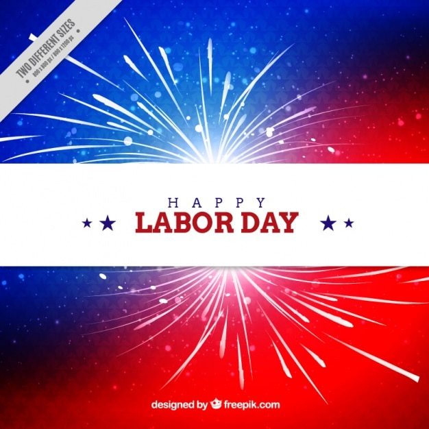 American abstract background of labor day with fireworks