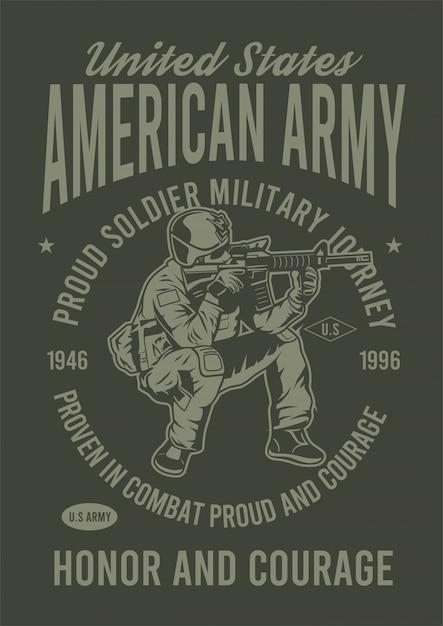 American army design illustration Premium Vector