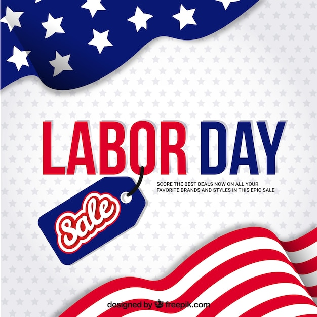 American background of labor day sales Free Vector