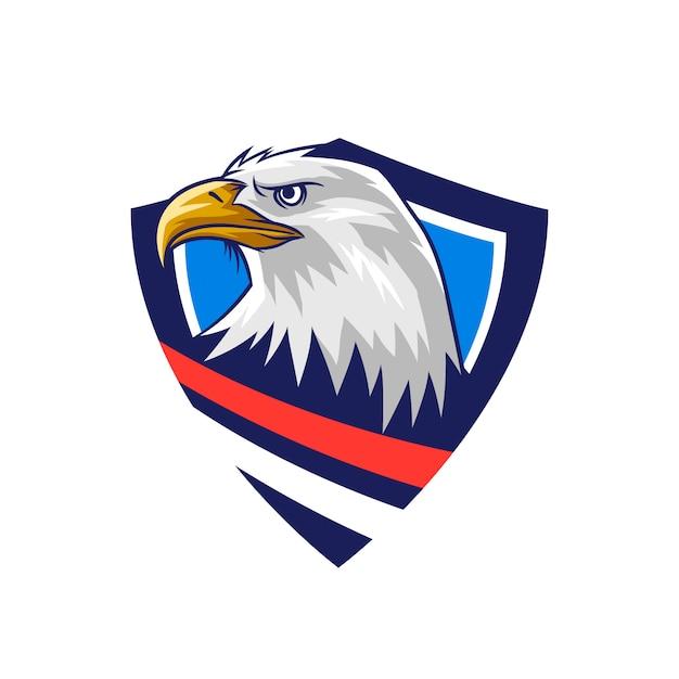 American bald eagle shield emblem Premium Vector