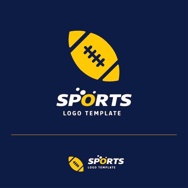 Дизайн логотипа american ball rugby Бесплатные векторы