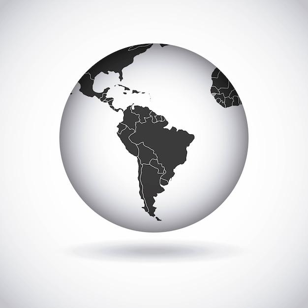 Дизайн американского континента Premium векторы