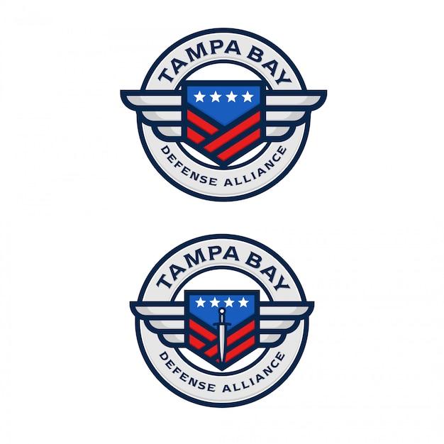 American defense alliance logo Premium Vector