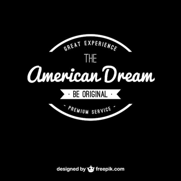 American dream vintage logo Vector | Free Download