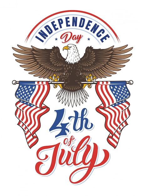 День независимости американского орла Бесплатные векторы