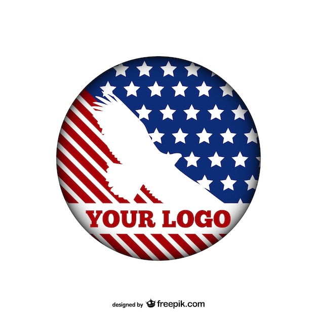 american eagle logo template vector free download