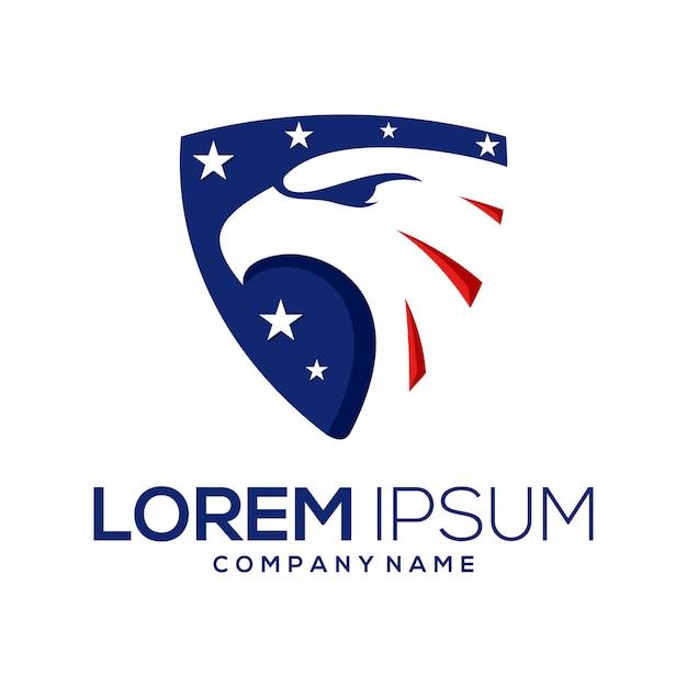 American eagle logo Premium Vector