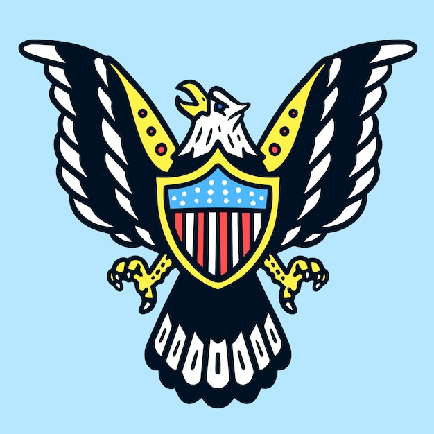American Eagle Old School Tattoo