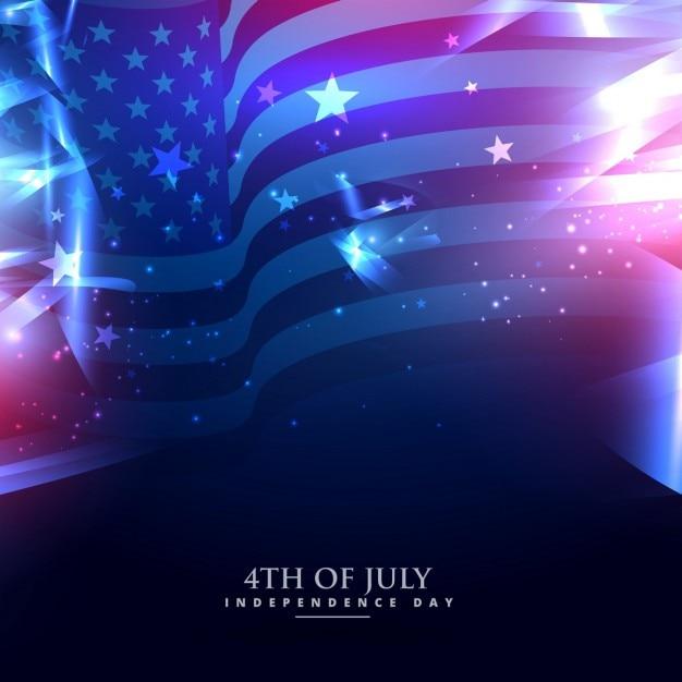 Bandiera americana in astratto Vettore gratuito