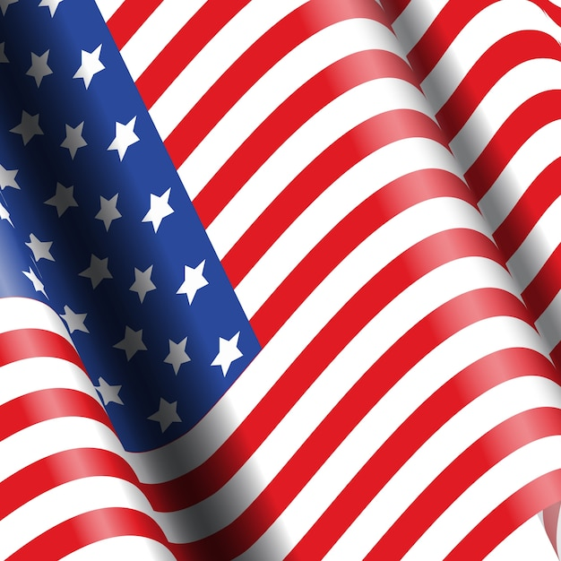 American flag background ideal for 4th july celebrations Free Vector