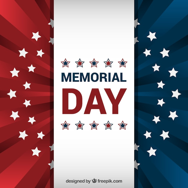 80164fdadd4a American flag background for memorial day Free Vector