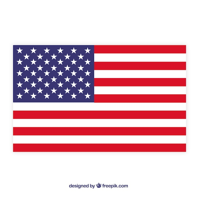 American flag background Free Vector