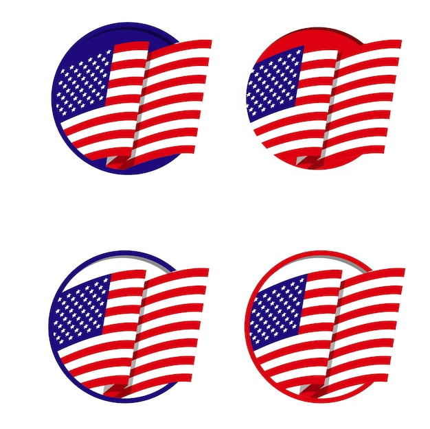 american flag icon logo vector premium download rh freepik com american flag logo clip art american flag logo golf balls