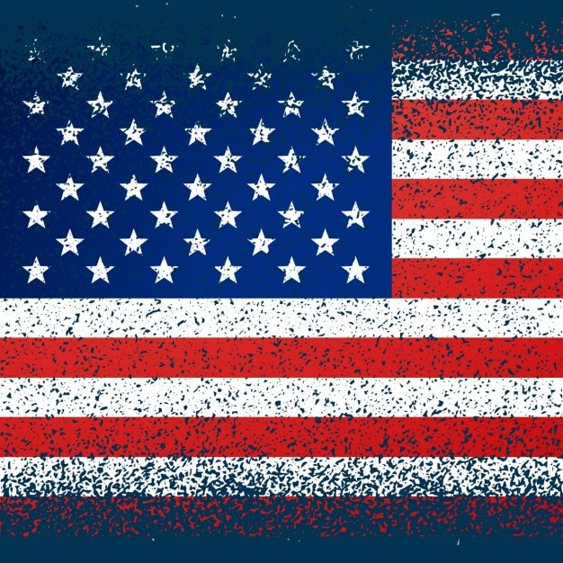 american flag in grunge texture vector   free download
