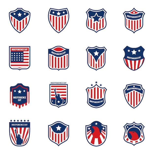 american flag logo collecti vector free download rh freepik com american flag logo jacket uk american flag logo vector