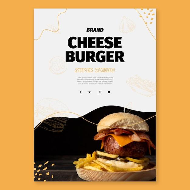 Шаблон флаера американской еды Бесплатные векторы