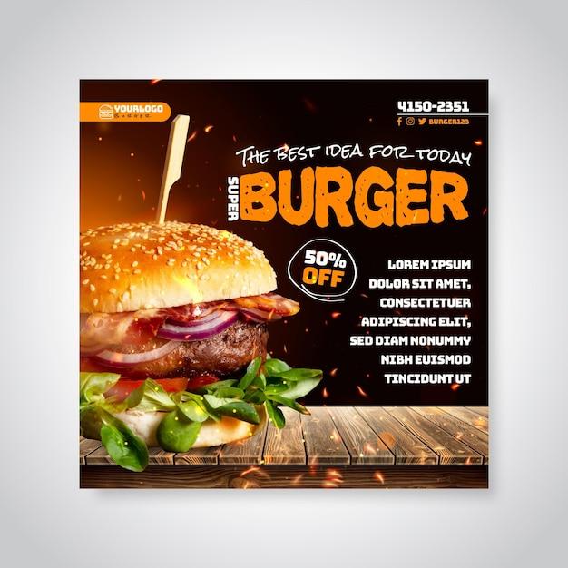 American food flyer Free Vector