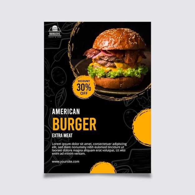 미국 음식 포스터 템플릿 무료 벡터