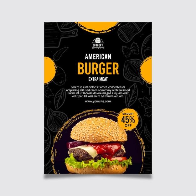 미국 음식 포스터 무료 벡터