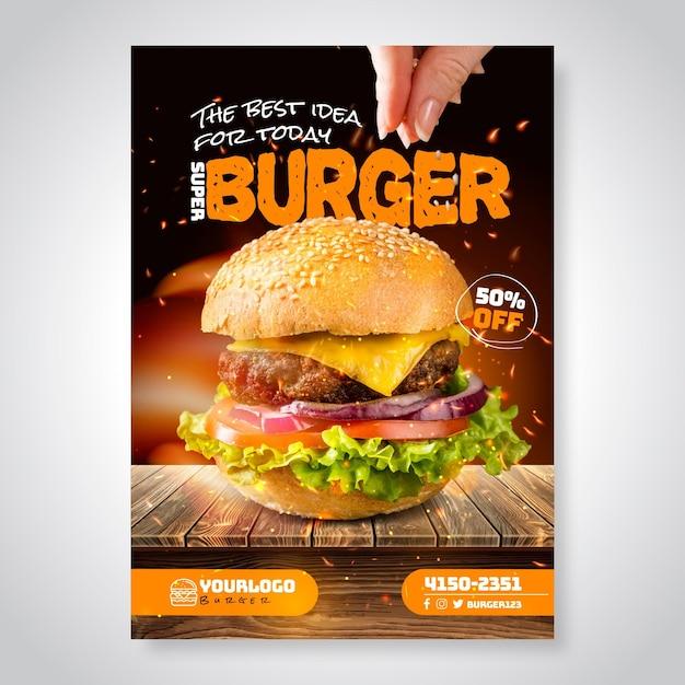 Американская еда плакат Бесплатные векторы