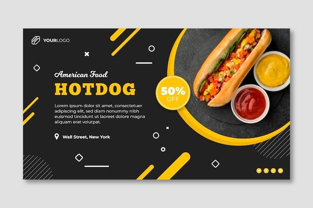 American food restaurant banner template Premium Vector