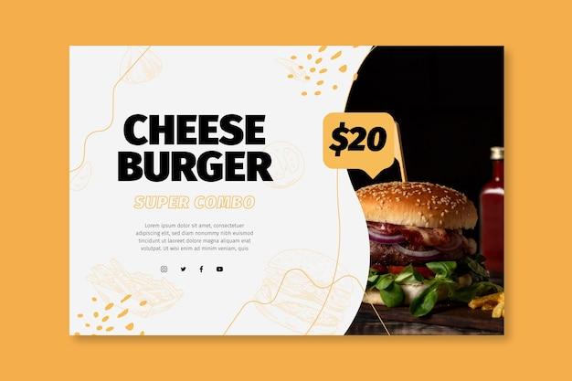 Banner modello di cibo americano Vettore gratuito